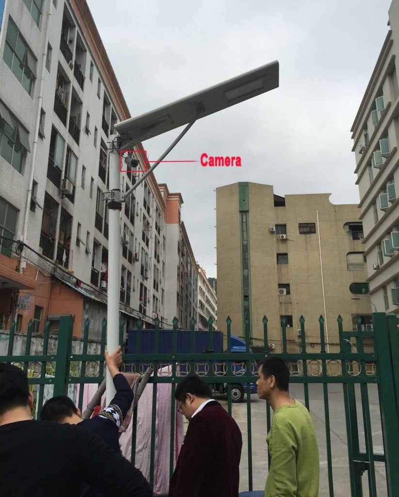 solar street light with camera