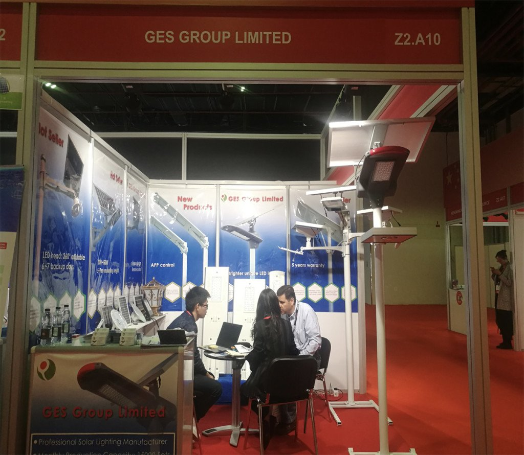 Solar street lights factory attend MEE fair in Dubai