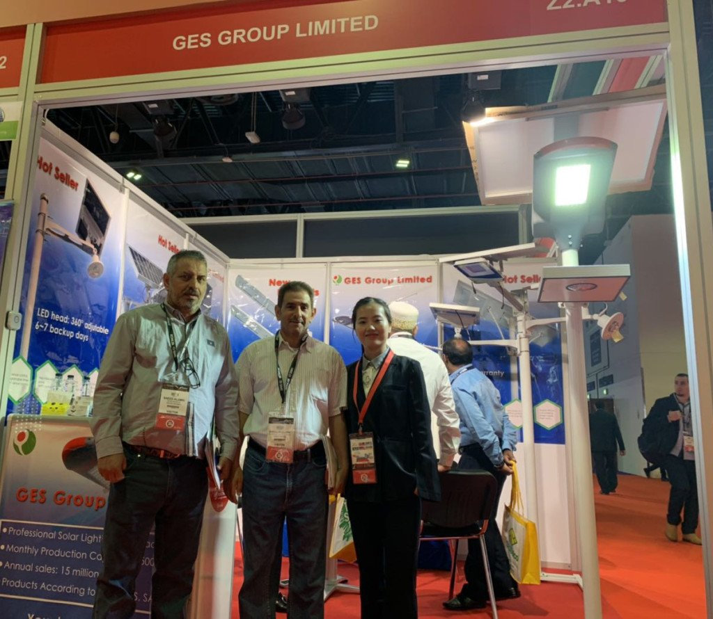 GES in Dubai MEE fair of solar area
