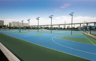 G03 solar street lights installation for sports area