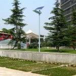 G03 solar street lights installation on street