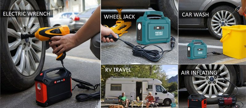 Portable generator with tools