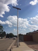 GES Ultrathin All-in-one Solar Street Light 60W with 7m
